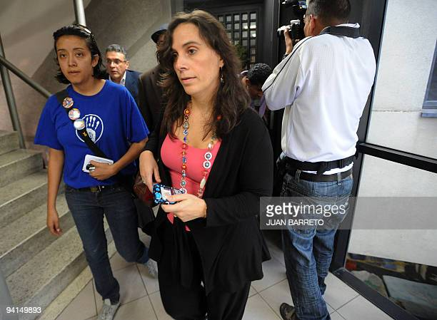 OAS Commissioner Antonia Urrejola arrives to meet with Venezuelan students on hunger strike at the organization's headquarters in Caracas December 8...