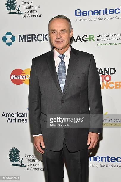 Commissioner at Major League Baseball Rob Manfred attends Stand Up To Cancer's New York Standing Room Only presented by Entertainment Industry...