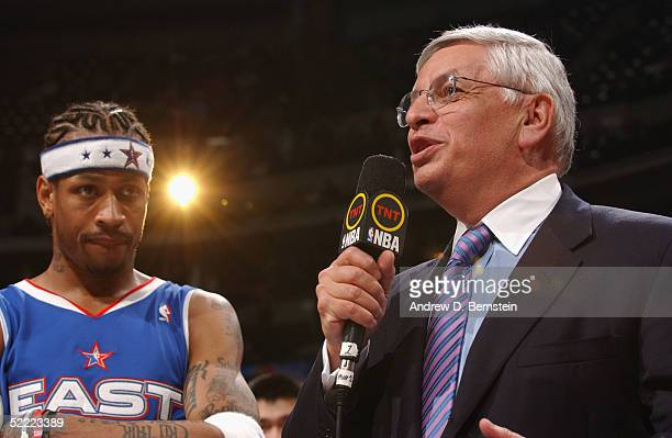 Commissioner David Stern announces Allen Iverson of the Eastern Conference AllStars as MVP of the 54th AllStar Game part of 2005 NBA AllStar Weekend...
