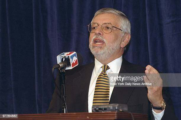 Commissioner David Stern announcing cancellation of basketball games in November with the possibility of more being scrapped if ongoing talks between...