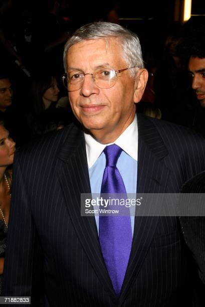 Commissioner David Stern attends the Y-3 Spring 2007 fashion show during Olympus Fashion Week at Pier 40 September 13, 2006 in New York City.