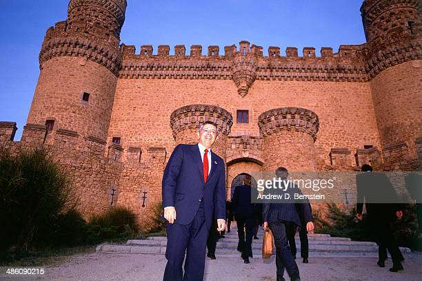 Commissioner David Stern poses for a potrait during a visit to the Castle of los Mendoza during the 1988 McDonald's Championships on October 22 1988...