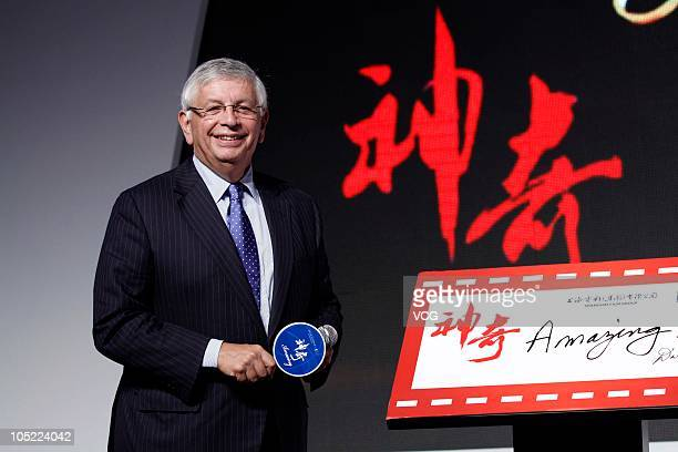 NBA Commissioner David Stern speaks to the media during a press conference for the NBA basketball film Amazing at Park Hyatt Beijing on October 12...