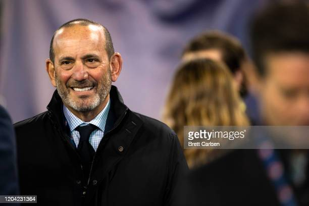 Commissioner Don Garber attends the matchup between the Nashville SC and the Atlanta United at Nissan Stadium on February 29, 2020 in Nashville,...