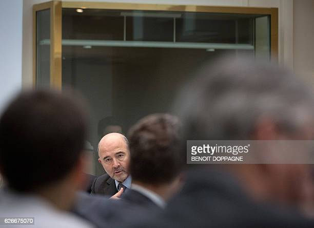 EU Commissioner for Economic and Financial Affairs Taxation and Customs Pierre Moscovici attends a session of the special chamber of nternational...