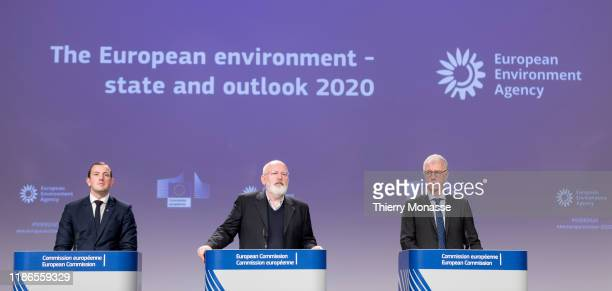 Commissioner for Environment Oceans and Fisheries Virginijus Sinkevicius the EU Commissioner for European Green Deal First Vice President and...