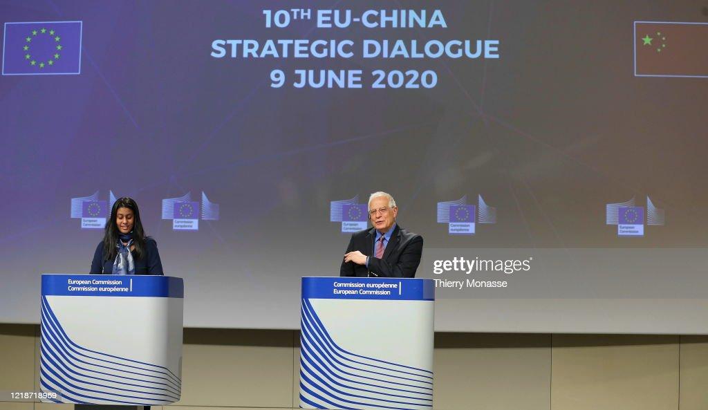 10th EU-China Strategic Dialogue Video Press Conference : News Photo