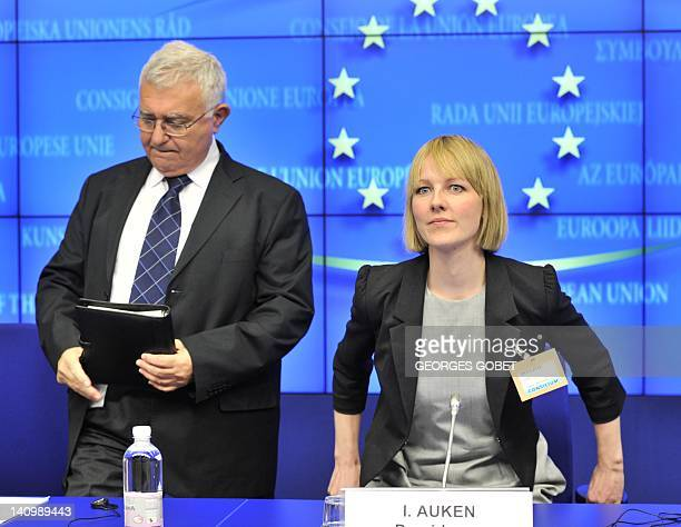 EU commissioner for Health and Consumer Policy John Dalli and Danish minister for Environment Ida Auken give a press conference following an...