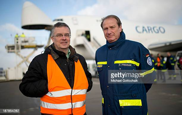 Commissioner for human rights of the German government Markus Loening and Gerd Friedsam VicePresident of the German technical relief organisation THW...
