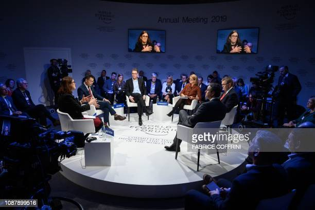 EU Commissioner for Trade Cecilia Malmstrom Cathay Capital Private Equity Founder and President Cai Mingpo Deutsche Bank CEO Christian Sewing...