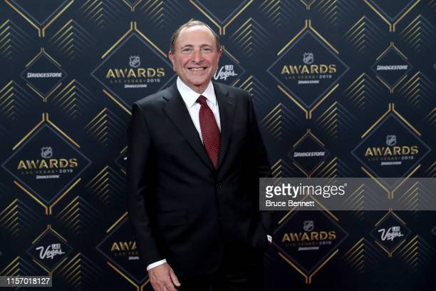 Commissioner Gary Bettman arrives at the 2019 NHL Awards at the Mandalay Bay Events Center on June 19, 2019 in Las Vegas, Nevada.