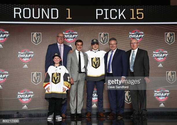 NHL Commissioner Gary Bettman director of amateur scouting Scott Luce general manager George McPhee Erik Brannstrom assistant general manager Kelly...