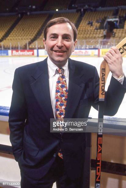 NHL commissioner Gary Bettman on February 271993 at the Great Western Forum in Inglewood California