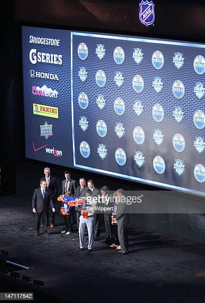 NHL Commissioner Gary Bettman Senior VP of Hockey Operations Craig MacTavish 2011 First overall pick Ryan NugentHopkins Head Amateur Scout Stu...