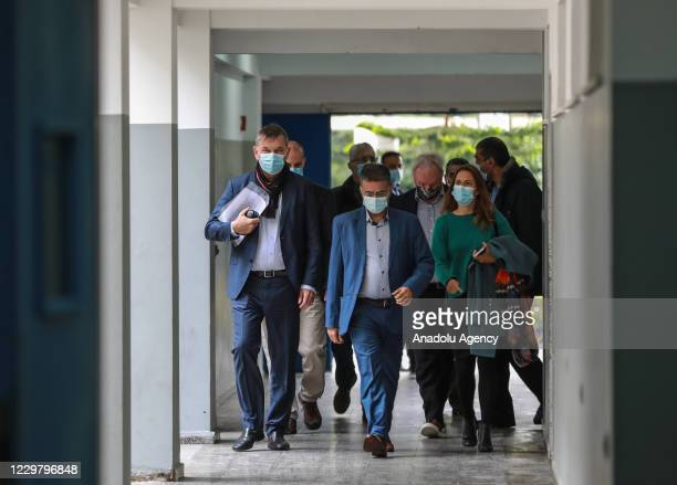 Commissioner General of the United Nations Palestine Refugee Agency Philippe Lazzarini is seen during his visit in Gaza City Gaza on November 26 2020