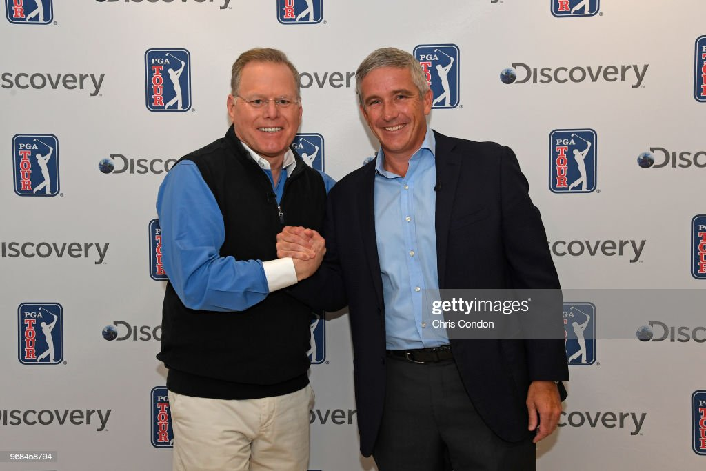 PGA TOUR announcement of a 12-year partnership with Discovery : News Photo