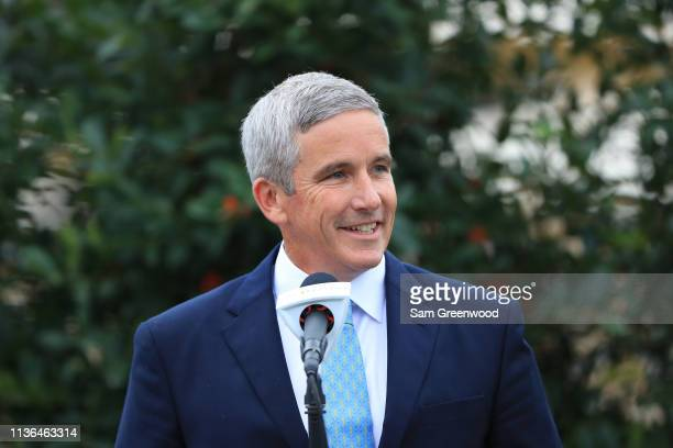 Commissioner Jay Monahan during the final round of The PLAYERS Championship on The Stadium Course at TPC Sawgrass on March 17 2019 in Ponte Vedra...