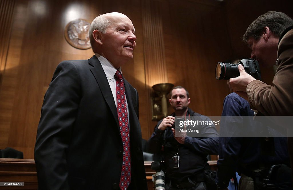 Commissioner John Koskinen arrives at a hearing before the Financial Services and General Government Subcommittee of the Senate Appropriations Committee March 8, 2016 on Capitol Hill in Washington, DC. The subcommittee held a hearing to examine the FY2017 budget for the Treasury Department.