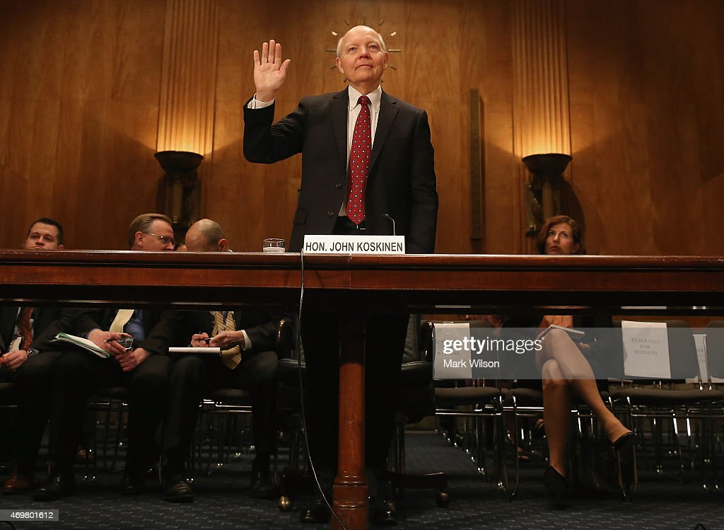 IRS Commissioner John Koskinen Testifies To Senate Hearing On Dept.'s Challenges In Implementing The Affordable Care Act