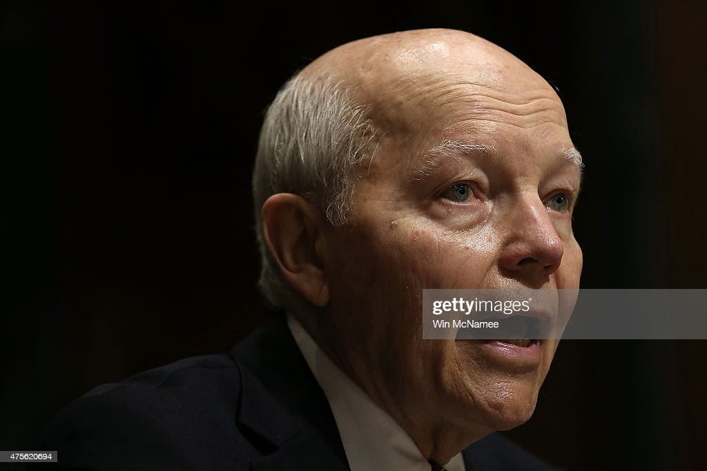 S. Commissioner John Koskinen testifies before the Senate Finance Committee June 2, 2015 in Washington, DC. The committee heard testimony on the topic of 'Internal Revenue Service Data Theft Affecting Taxpayer Information.'
