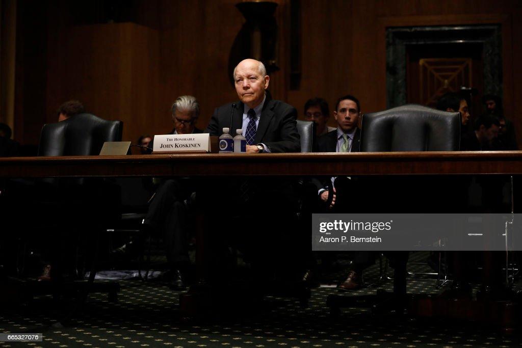 IRS Commissioner John Koskinen Testifies To Senate Finance Committee On 2017 Tax Season