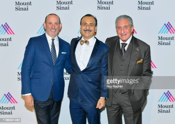 Commissioner MLS Don Garber Chairman Dept of Urology Ashutosh K Tewari and Arthur M Blank attend 2019 Mount Sinai Prostate Cancer Research Gala at...