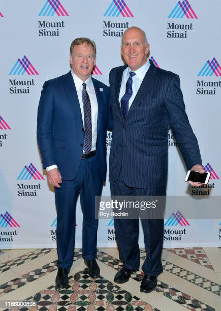 Commissioner NFL Roger Goodell and guest attend 2019 Mount Sinai Prostate Cancer Research Gala at Cipriani 42nd Street on November 06 2019 in New...
