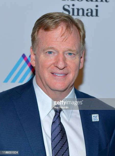 Commissioner NFL Roger Goodell attends 2019 Mount Sinai Prostate Cancer Research Gala at Cipriani 42nd Street on November 06 2019 in New York City
