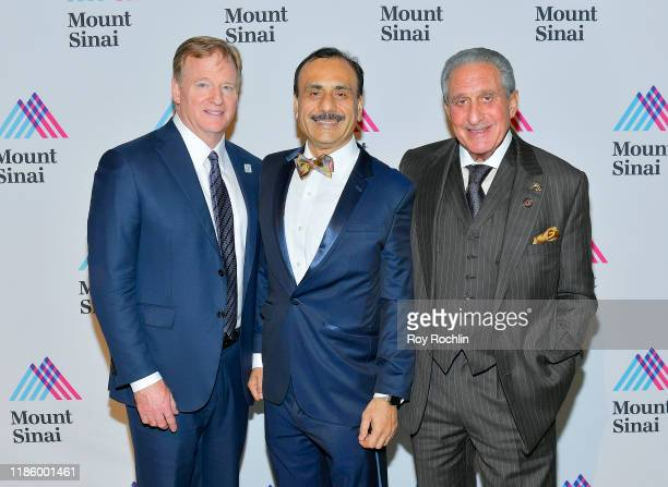 Commissioner NFL Roger Goodell Commissioner MLS Don Garber Chairman Dept of Urology Ashutosh K Tewari and Arthur M Blank attend 2019 Mount Sinai...