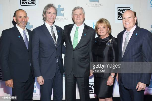 Commissioner of Major League Soccer and CEO of Soccer United Marketing Don Garber, Jay Sugarman, Randy Falco, Suzanna Wright and Bob Wright attend...