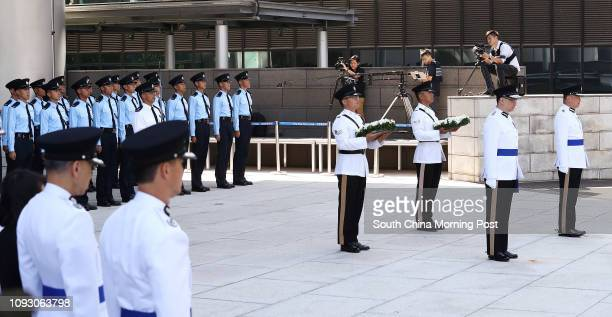 Commissioner of Police Stephen Lo Waichung and the Commandant of the Hong Kong Auxiliary Police Force Yang Joetsi together with representatives from...