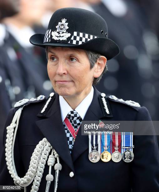 Commissioner of the Metropolitan Police Cressida Dick attends the Metropolitan Police Service Passing Out Parade for new recruits at the Metropolitan...