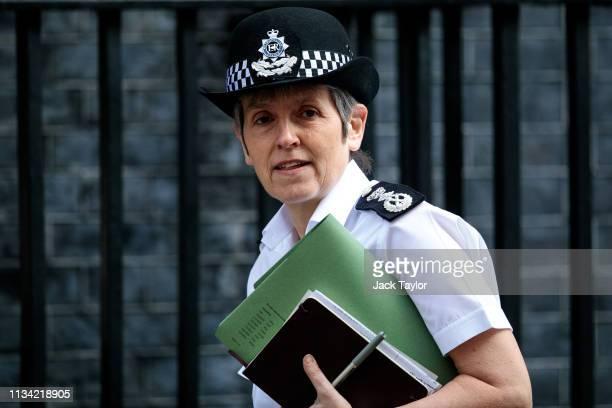 Commissioner of the Metropolitan Police Service Cressida Dick arrives at Number 10 Downing Street on April 1 2019 in London England British Prime...