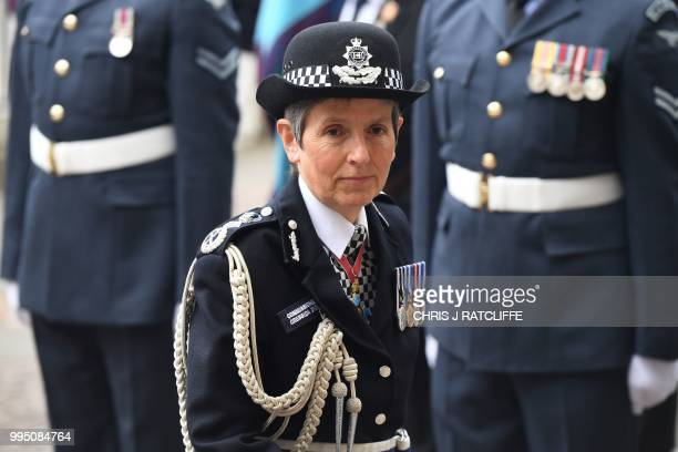 Commissioner of the Metropolitan Police Service Cressida Dick arrives for a service to mark the centenary of the Royal Air Force at Westminster Abbey...