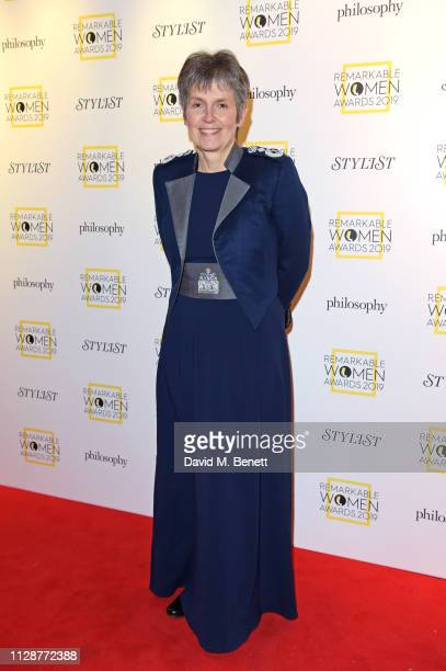 Commissioner of the Metropolitan Police Service Cressida Dick attends Stylist's inaugural Remarkable Women Awards in partnership with philosophy at...