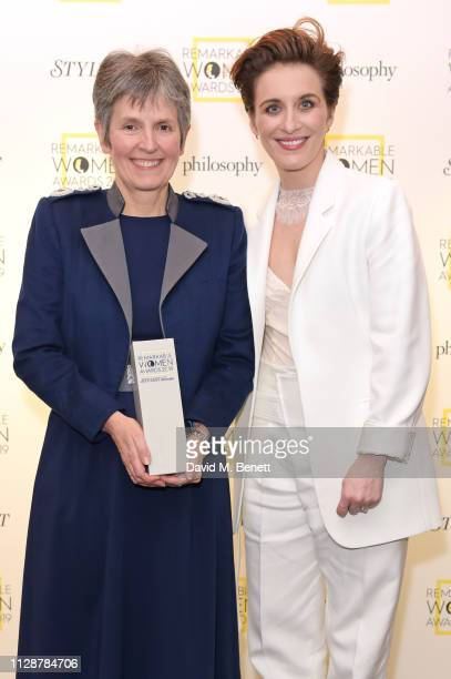 Commissioner of the Metropolitan Police Service Cressida Dick winner of the Glass Ceiling Award and Vicky McClure attend Stylist's inaugural...