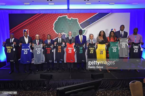 Commissioner of the NBA Adam Silver poses for a photo during the announcement of the NBA BAL during the Africa Luncheon as part of NBA All Star...