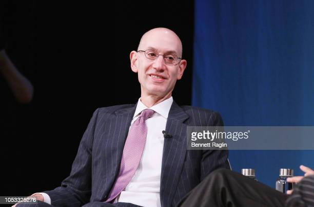 Commissioner of the NBA Adam Silver speaks onstage for Building Brands and Delighting Fans Nurturing Talent and Creating Compelling Content in the...