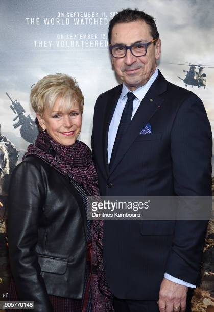 Commissioner of the New York City Fire Department Daniel A Nigro attends the world premiere of '12 Strong' at Jazz at Lincoln Center on January 16...