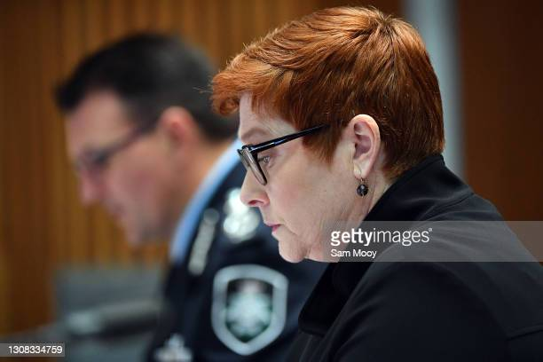 Commissioner Reece Kershaw and Senator Marise Payne appear before the Additional Estimates 2020–21 Legal and Constitutional Affairs Legislation...