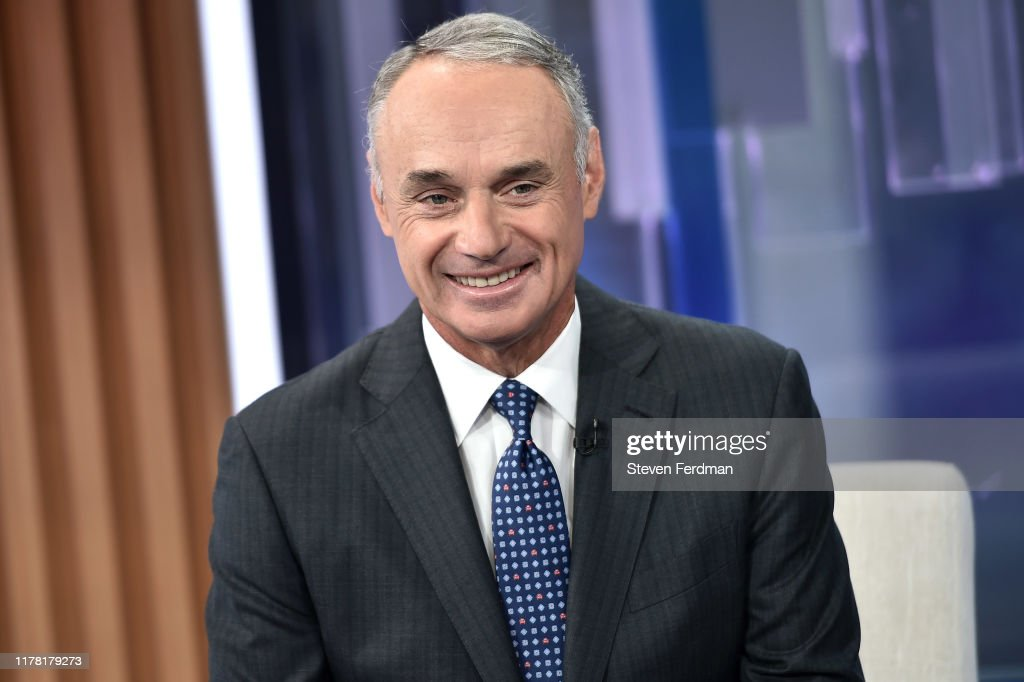 "MLB Commissioner Rob Manfred Visits ""Mornings With Maria"" : News Photo"