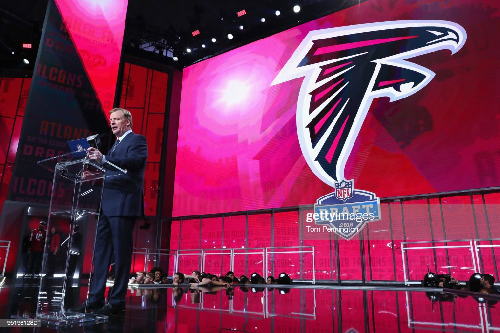 Image result for roger goodell announcing falcons pick