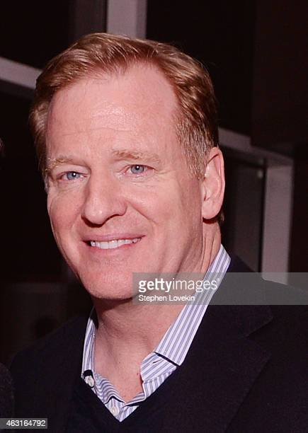 """Commissioner Roger Goodell attends the after party for a special screening of """"The Rewrite"""" hosted by The Cinema Society and Brooks Brothers at The..."""
