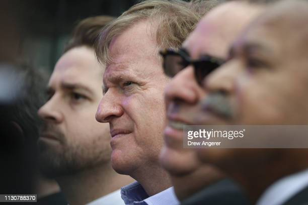 Commissioner Roger Goodell attends the grand opening of phase one of the Hudson Yards development on the West Side of Midtown Manhattan March 15 2019...