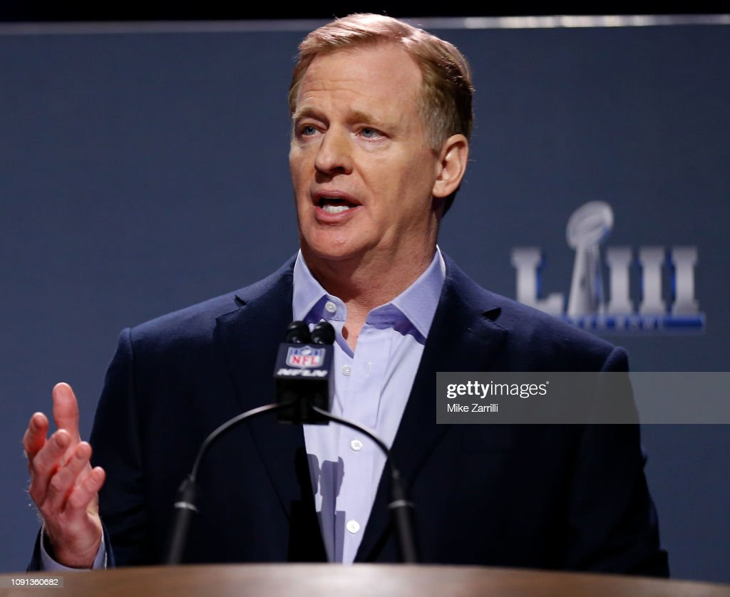 NFL Commissioner Roger Goodell Press Conference : News Photo