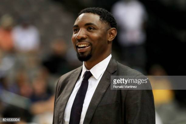 Commissioner Roger Mason Jr attends week six of the BIG3 three on three basketball league at American Airlines Center on July 30 2017 in Dallas Texas