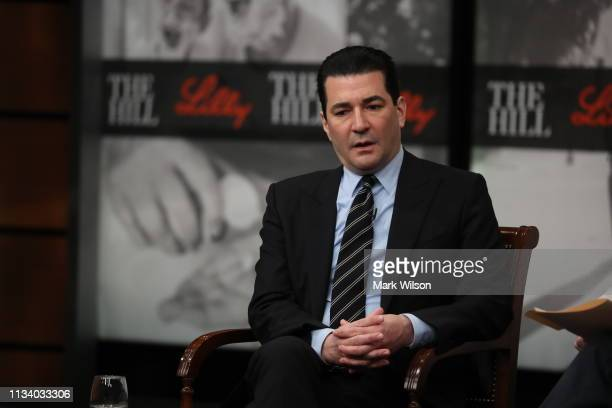 Commissioner Scott Gottlieb speaks about teen vaping during a discussion about overcoming obstacles at the Newseum on March 6 2019 in Washington DC