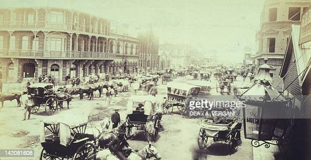 Commissioner Street in Johannesburg South Africa 19th century
