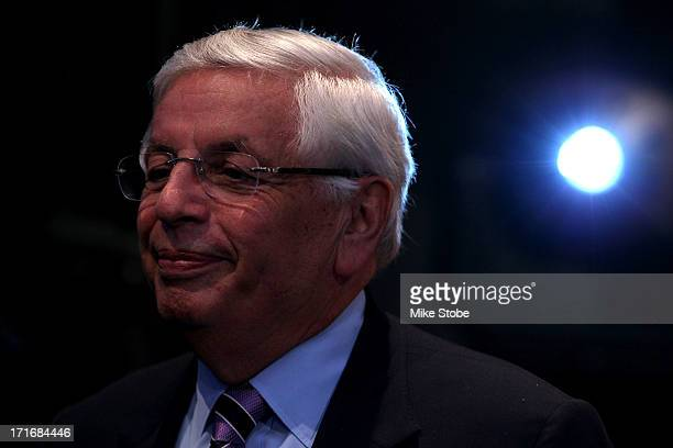 Commissoner David Stern looks on prior to the start of the first round during the 2013 NBA Draft at Barclays Center on June 27, 2013 in in the...