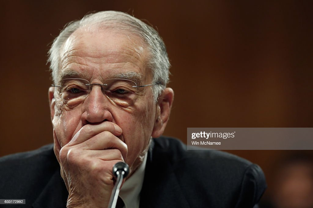 Committe Chairman Sen. Chuck Grassley (R-IA) listens to remarks from Democratic senators during the Senate Judiciary Committee's 'markup' on the nomination of Sen. Jeff Sessions to be the next Attorney General of the U.S. January 31, 2017 in Washington, DC. The nomination of Sessions to be the next Attorney General has been complicated by the recent firing of Acting Attorney General Sally Yates by U.S. President Donald Trump.